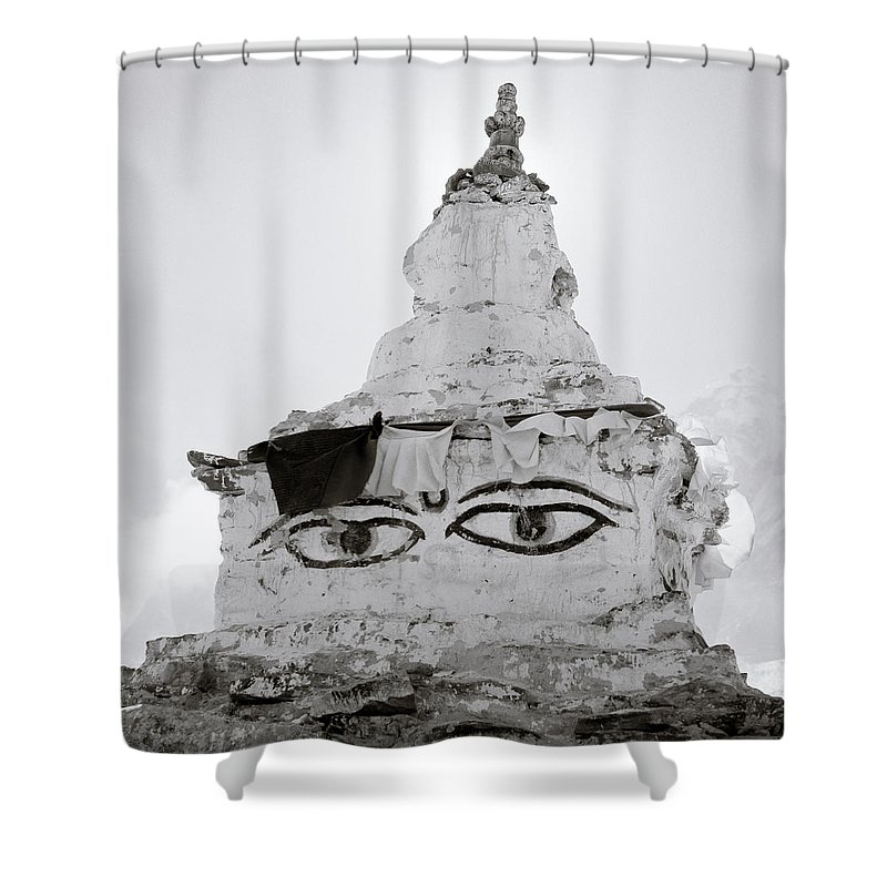 Altitude Shower Curtain featuring the photograph Spirituality In The Himalayas by Shaun Higson