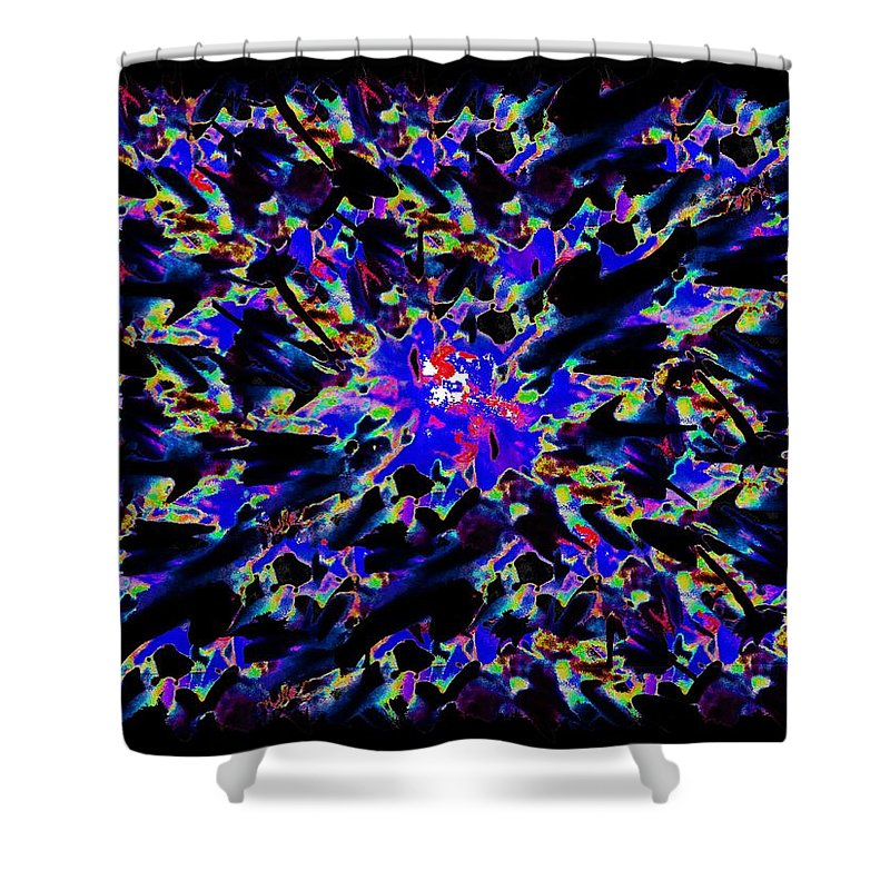 Splat Shower Curtain featuring the digital art Splat 5 by Tim Allen