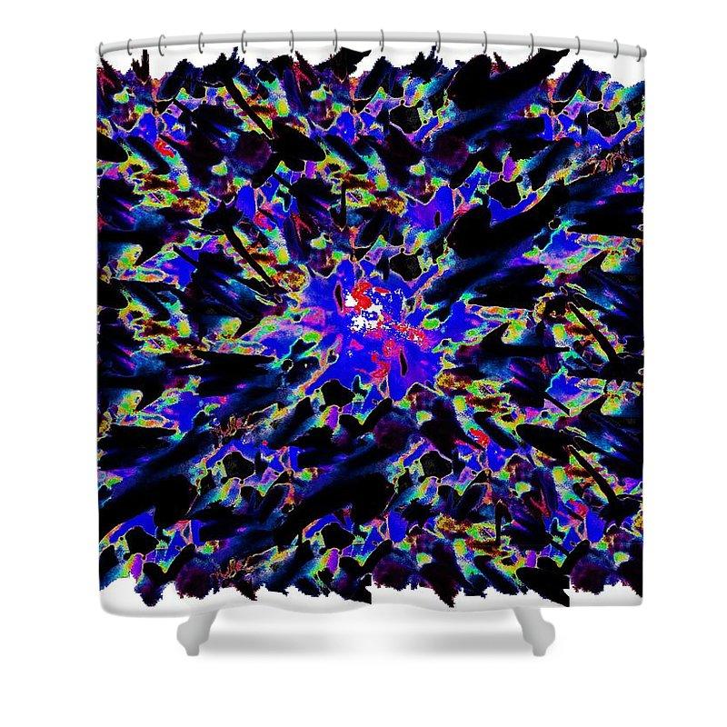 Splat Shower Curtain featuring the digital art Splat 6 by Tim Allen