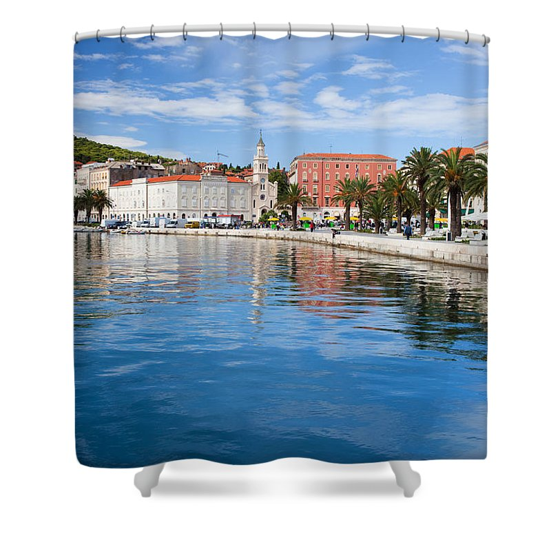 Structure Shower Curtain featuring the photograph Split Bay In Croatia by Artur Bogacki