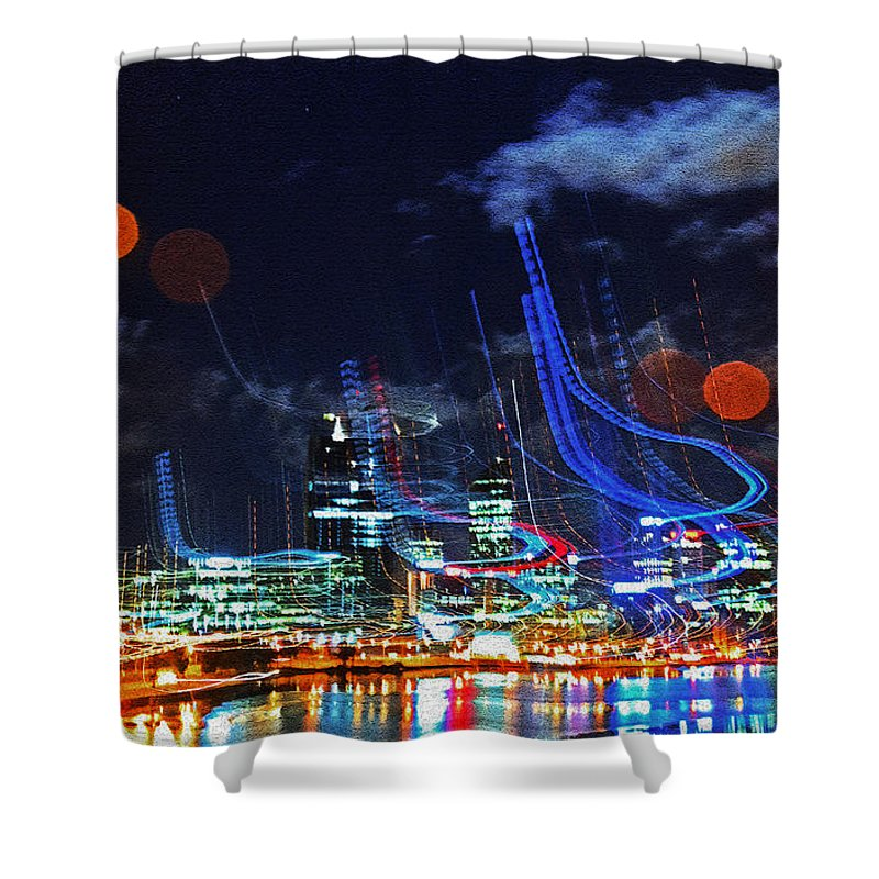 Perth Shower Curtain featuring the photograph Squiggles by Rob Hawkins