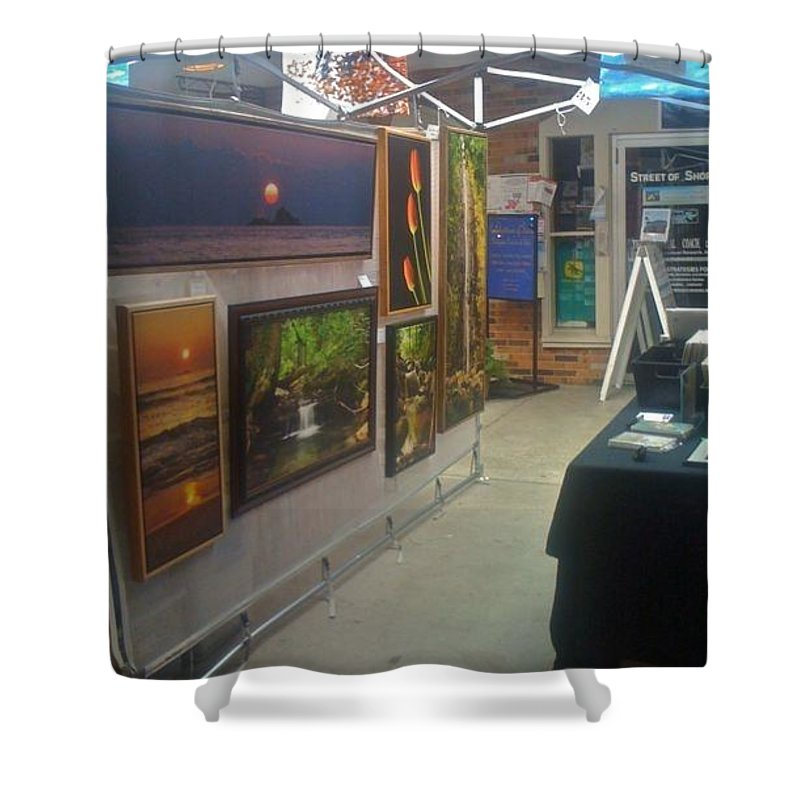 Shower Curtain featuring the photograph St Clair Side 1 by Michael Peychich