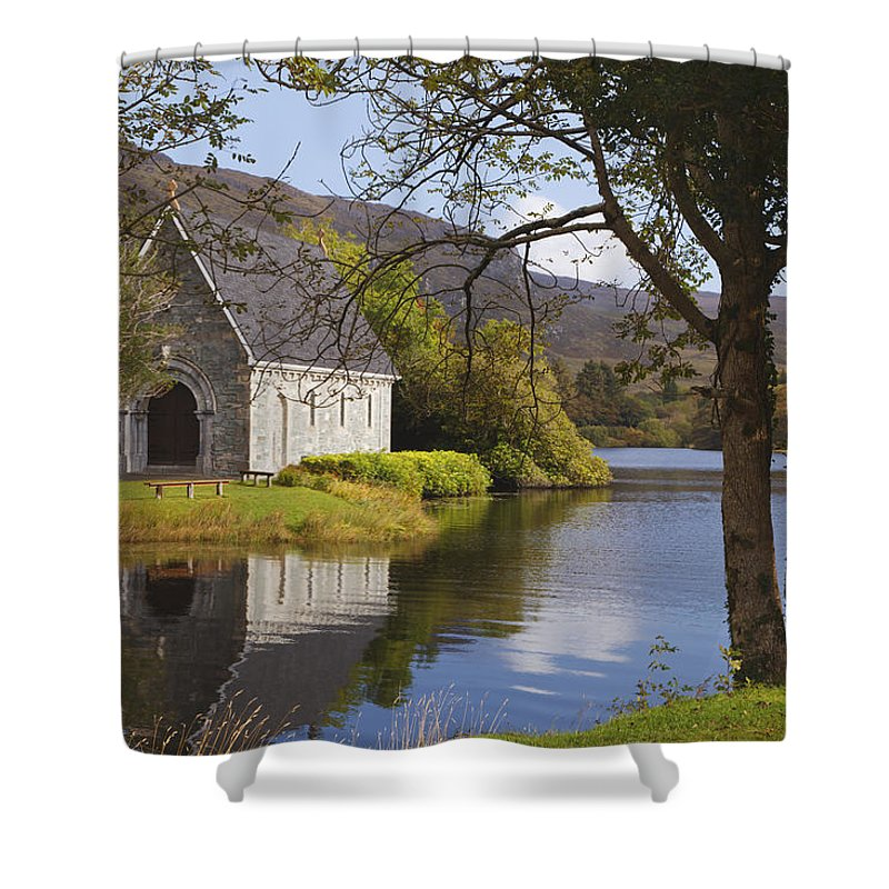 County Cork Shower Curtain featuring the photograph St. Finbarres Oratory On Shore by Ken Welsh