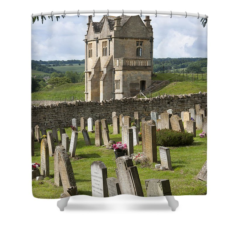 2011 Shower Curtain featuring the photograph St James Church Graveyard by Andrew Michael