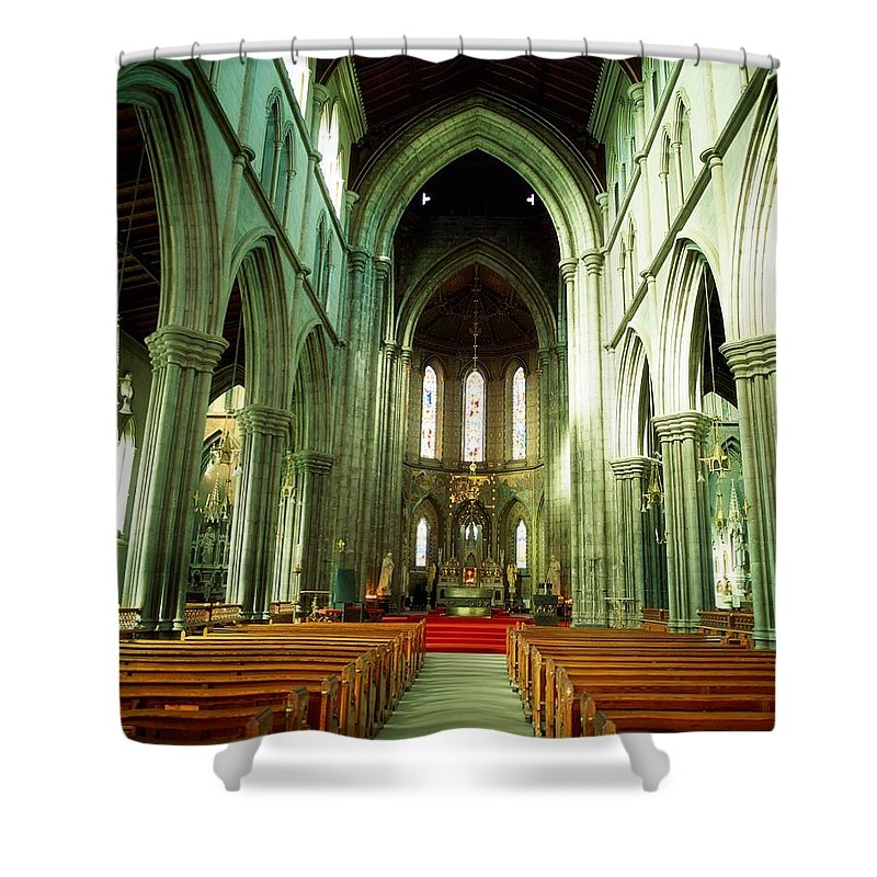 Arch Shower Curtain featuring the photograph St. Marys Cathedral, Kilkenny City, Co by The Irish Image Collection