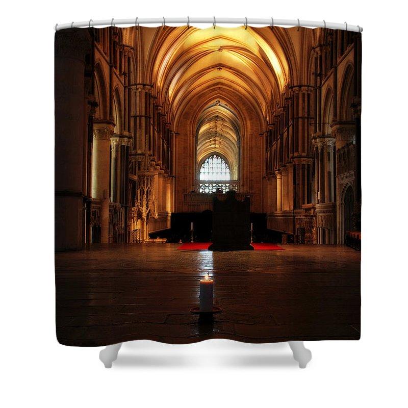 Lisa Knechtel Shower Curtain featuring the photograph St Thomas Becket's Shrine by Lisa Knechtel
