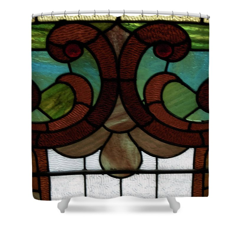 Glass Art Shower Curtain featuring the photograph Stained Glass Lc 08 by Thomas Woolworth