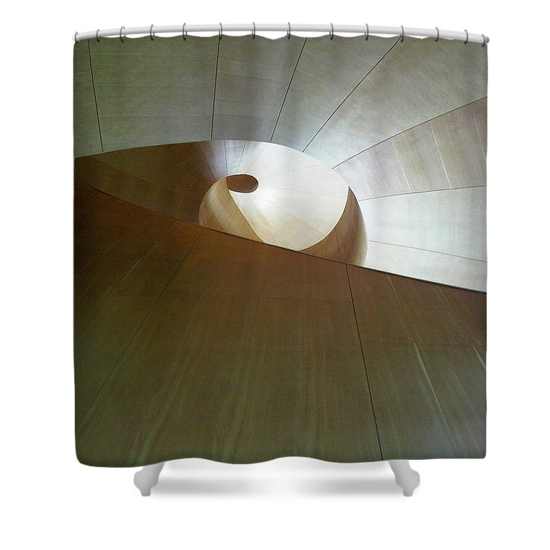 Stairs Shower Curtain featuring the photograph Stairway To Nowhere by Marwan George Khoury