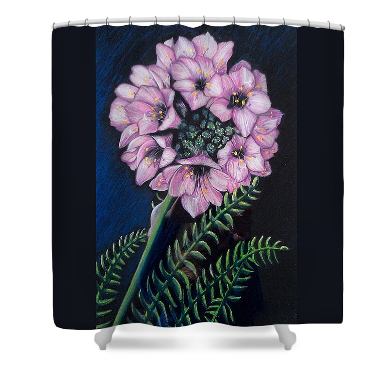 Wildflower Shower Curtain featuring the painting Standing Tall by Elisa Gabrielli