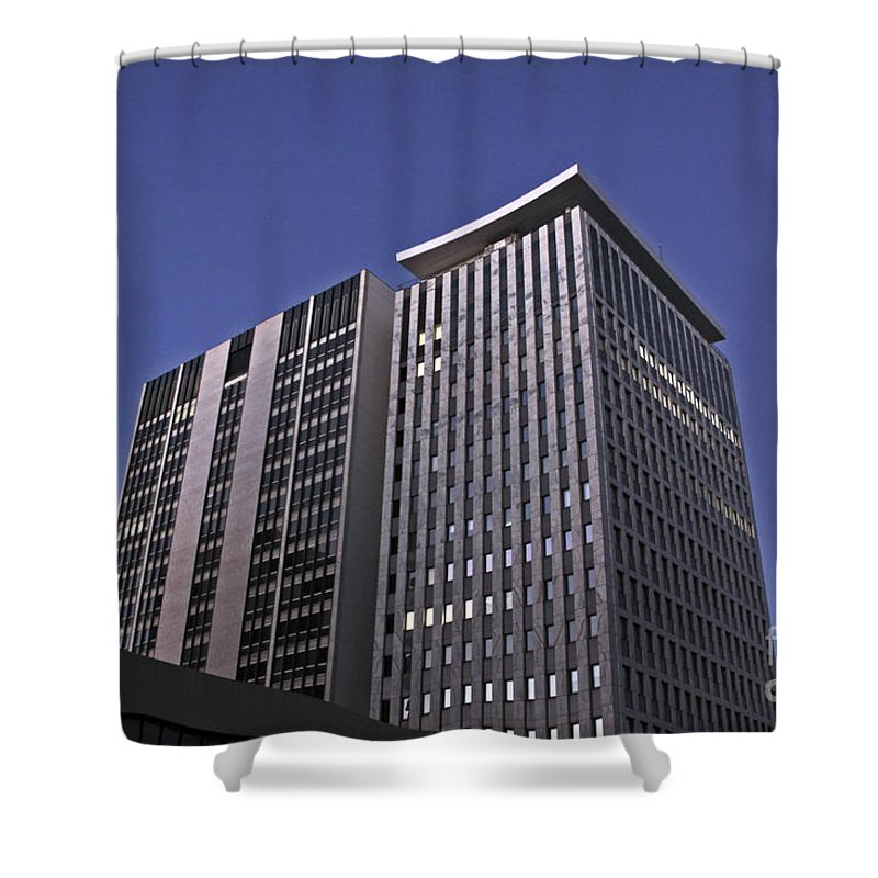 City Shower Curtain featuring the photograph Stark City by Stephen Mitchell