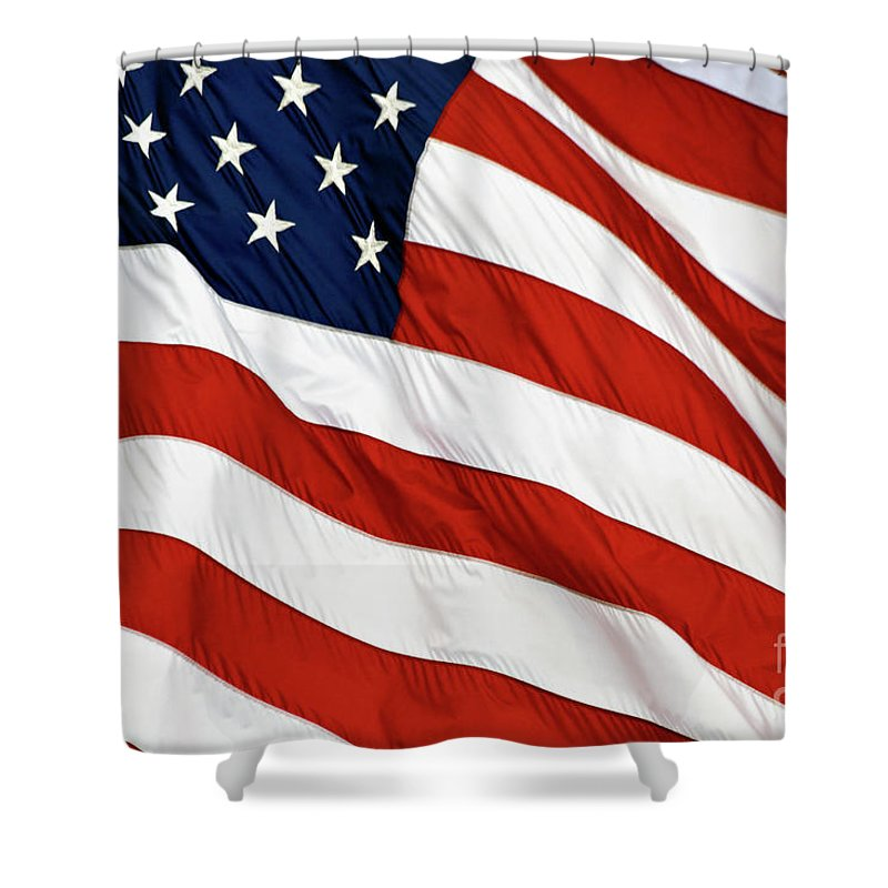 Close-up Shower Curtain featuring the photograph Stars And Stripes - D004586 by Daniel Dempster