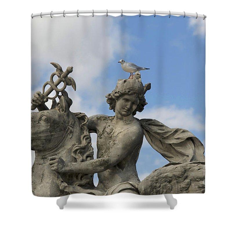 Paris Shower Curtain featuring the photograph Statue . Place De La Concorde. Paris. France by Bernard Jaubert
