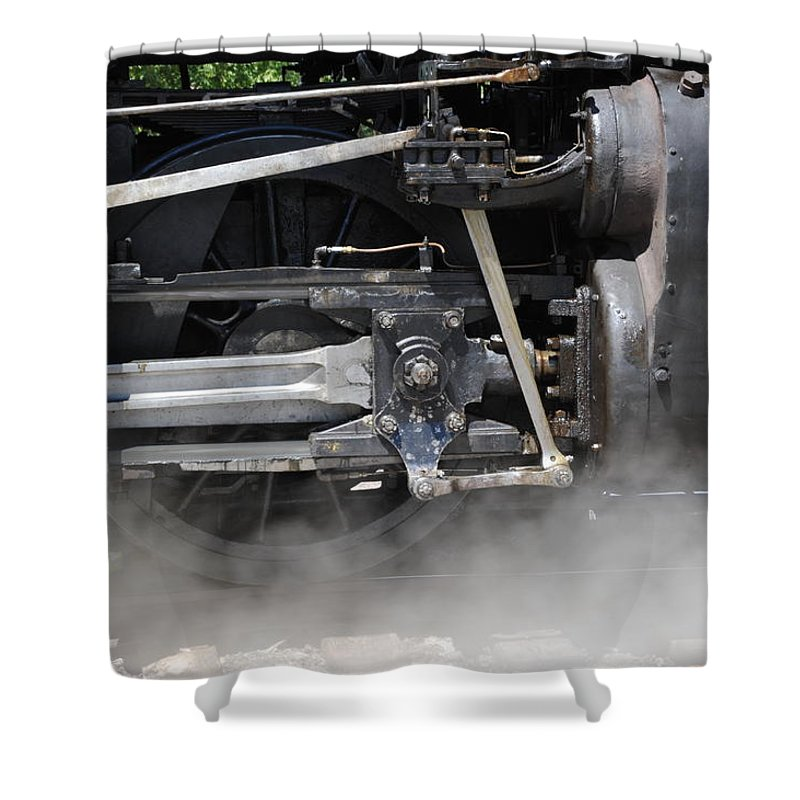 Steam Train Shower Curtain featuring the photograph Steam Power by Ron Weathers