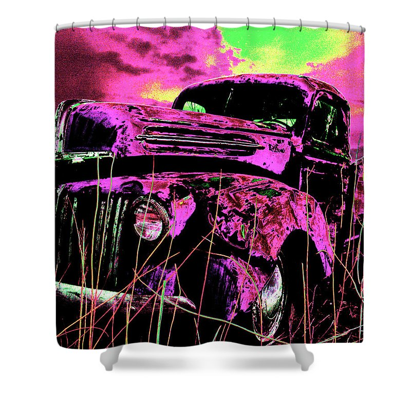 Truck Shower Curtain featuring the photograph Steve's Truck by Ron Weathers