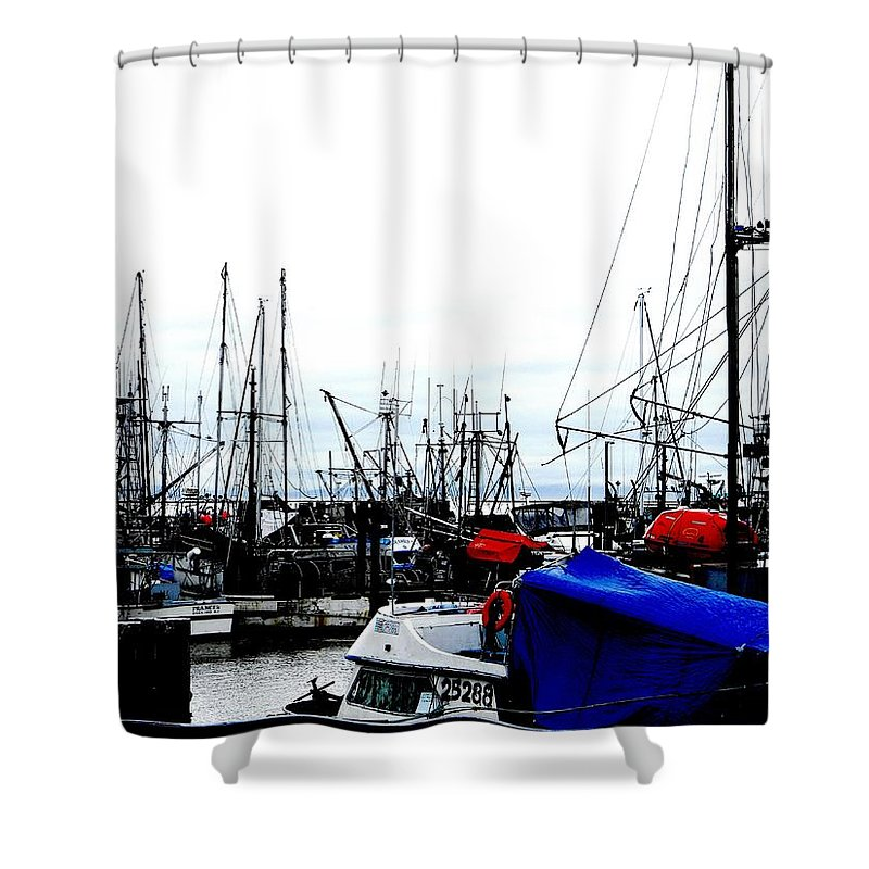 Vancouver Shower Curtain featuring the photograph Steveston 2 by Marwan George Khoury