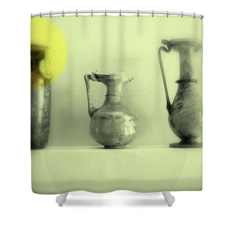 Vase Shower Curtain featuring the photograph Still Life - Roman Pitchers by Kathleen Grace