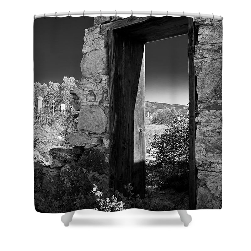Cemetary Shower Curtain featuring the photograph Still Standing by Colleen Coccia