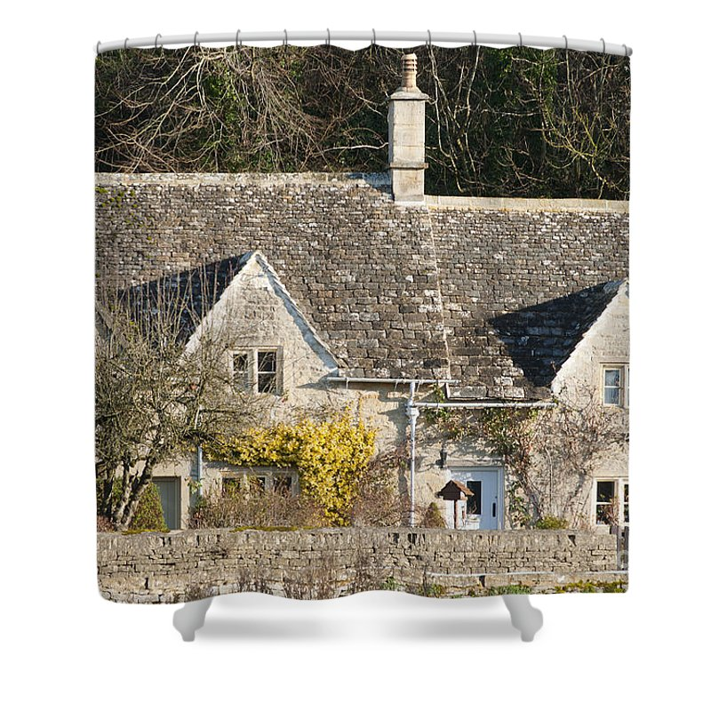 Bibery Shower Curtain featuring the photograph Stone Cottages by Andrew Michael