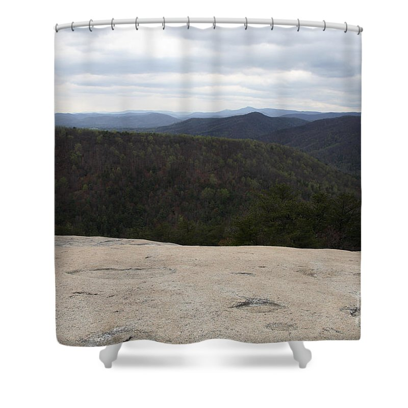 Stone Mountain State Park Shower Curtain featuring the photograph Stone Mountain State Park by Ted Kinsman