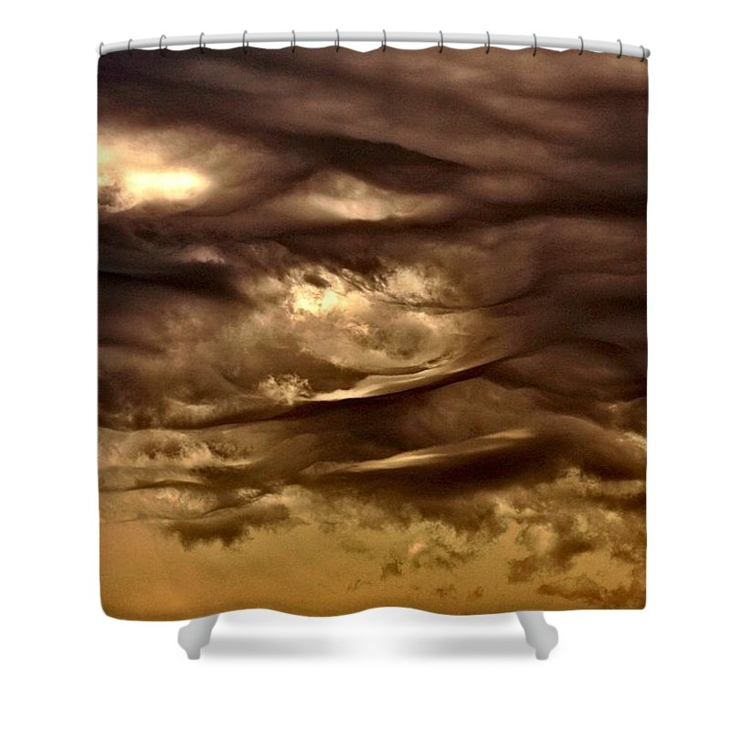 Clouds Shower Curtain featuring the photograph Storm Approaches by One Rude Dawg Orcutt
