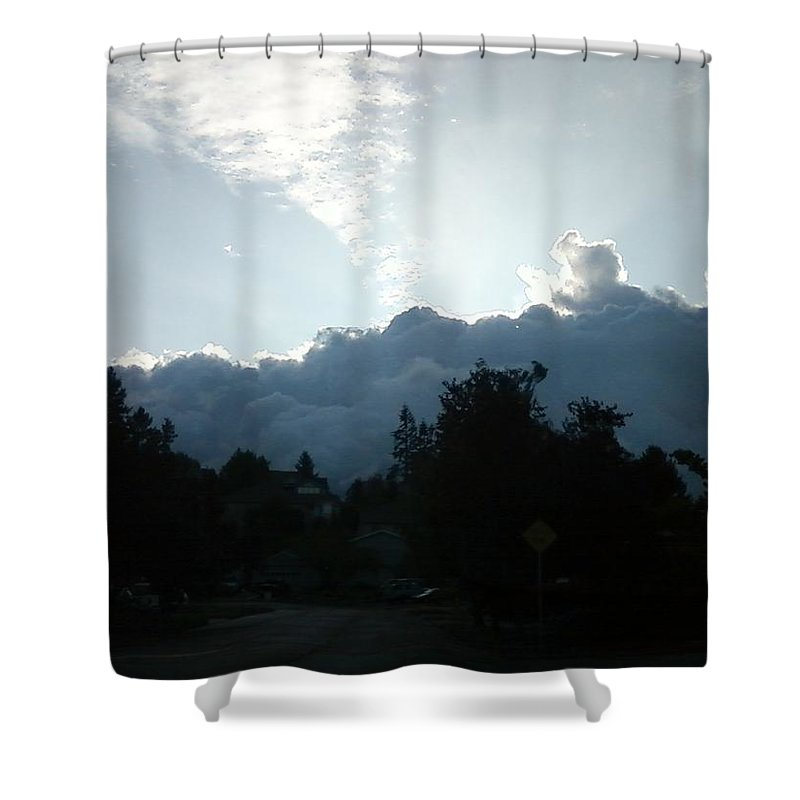 Storm Shower Curtain featuring the photograph Storm Clouds by Linda Hutchins