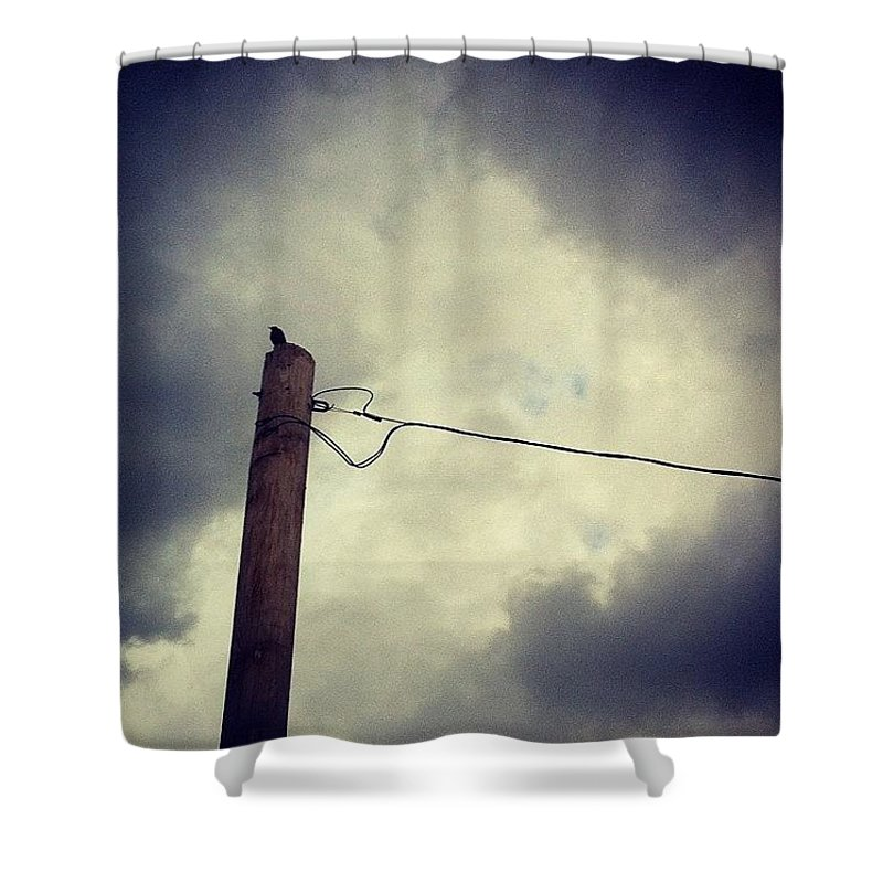 Storm Shower Curtain featuring the photograph #storm Watcher by Katie Cupcakes