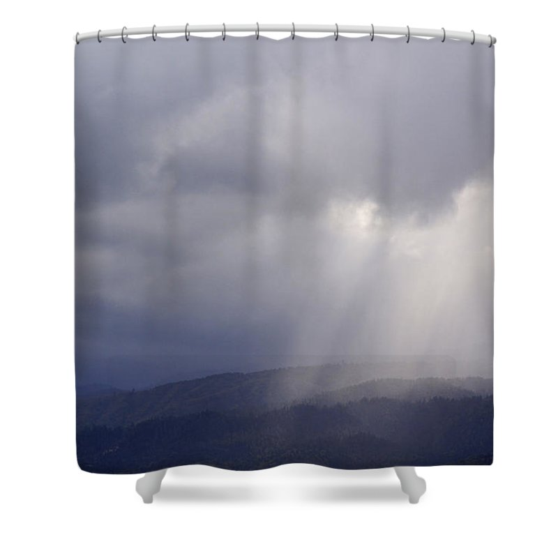 Stormlight Shower Curtain featuring the photograph Stormlight by Mick Anderson