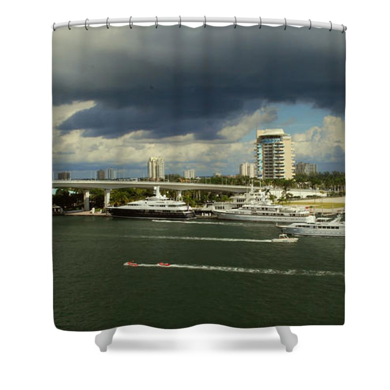 Florida Shower Curtain featuring the photograph Stormy Fort Lauderdale by Gary Wonning