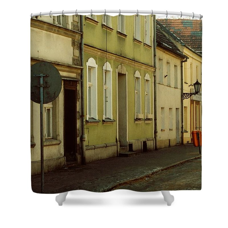 Street Shower Curtain featuring the photograph Street 2 by Marcin and Dawid Witukiewicz