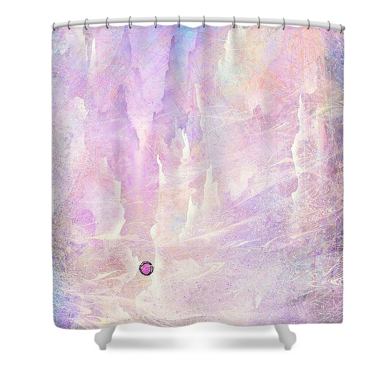 Landscape Shower Curtain featuring the digital art Stuck in a moment of time by William Russell Nowicki