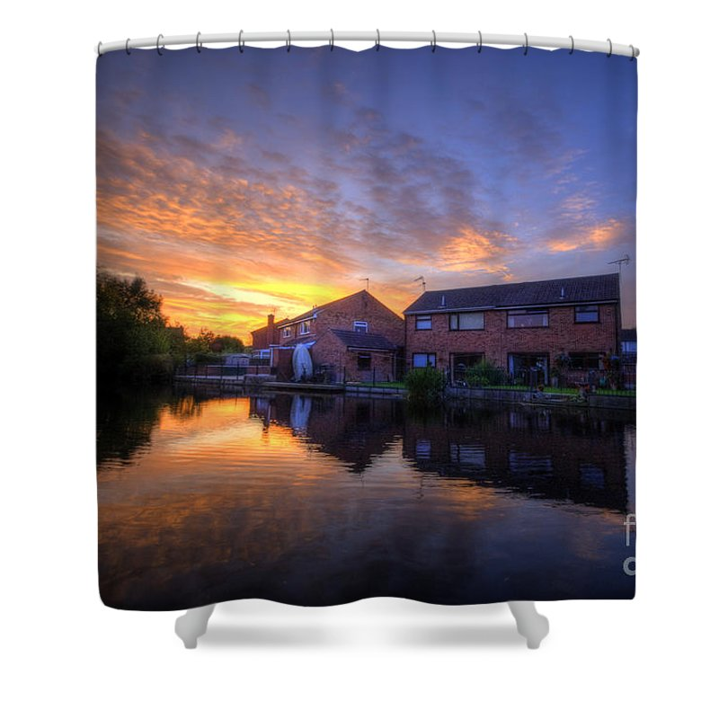 Yhun Suarez Shower Curtain featuring the photograph Suburban Sunrise 5.0 by Yhun Suarez