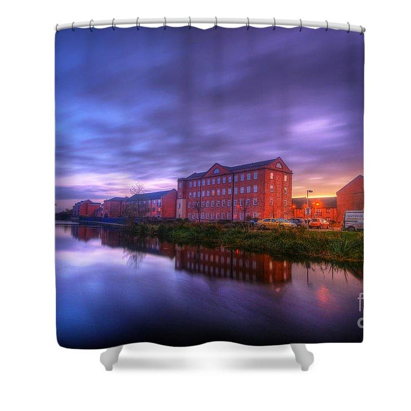 Yhun Suarez Shower Curtain featuring the photograph Suburban Sunset 2.0 by Yhun Suarez