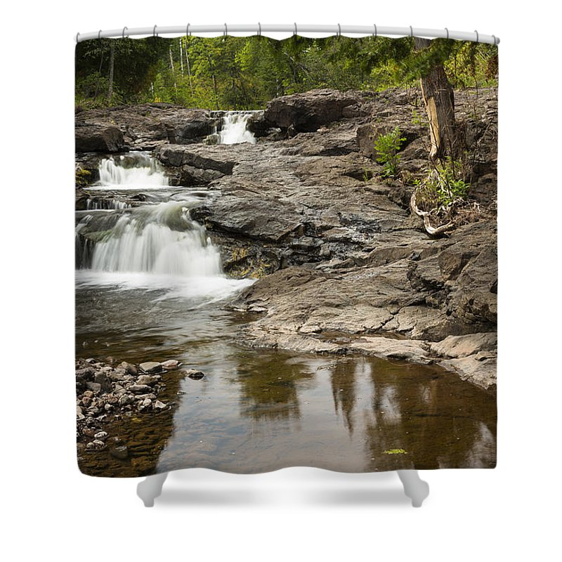 Waterfall Shower Curtain featuring the photograph Sucker River Falls 2 B by John Brueske