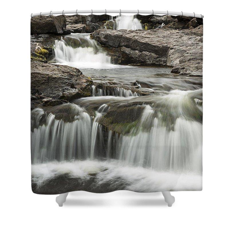Waterfall Shower Curtain featuring the photograph Sucker River Falls 2 F by John Brueske