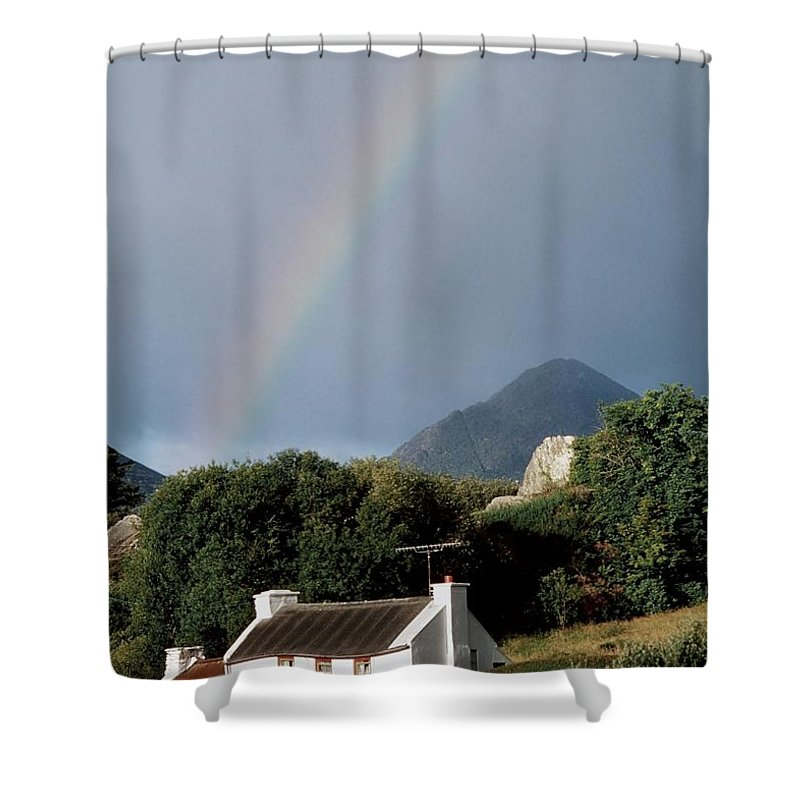Day Shower Curtain featuring the photograph Sugarloaf Mountain, Glengarriff, Co by The Irish Image Collection
