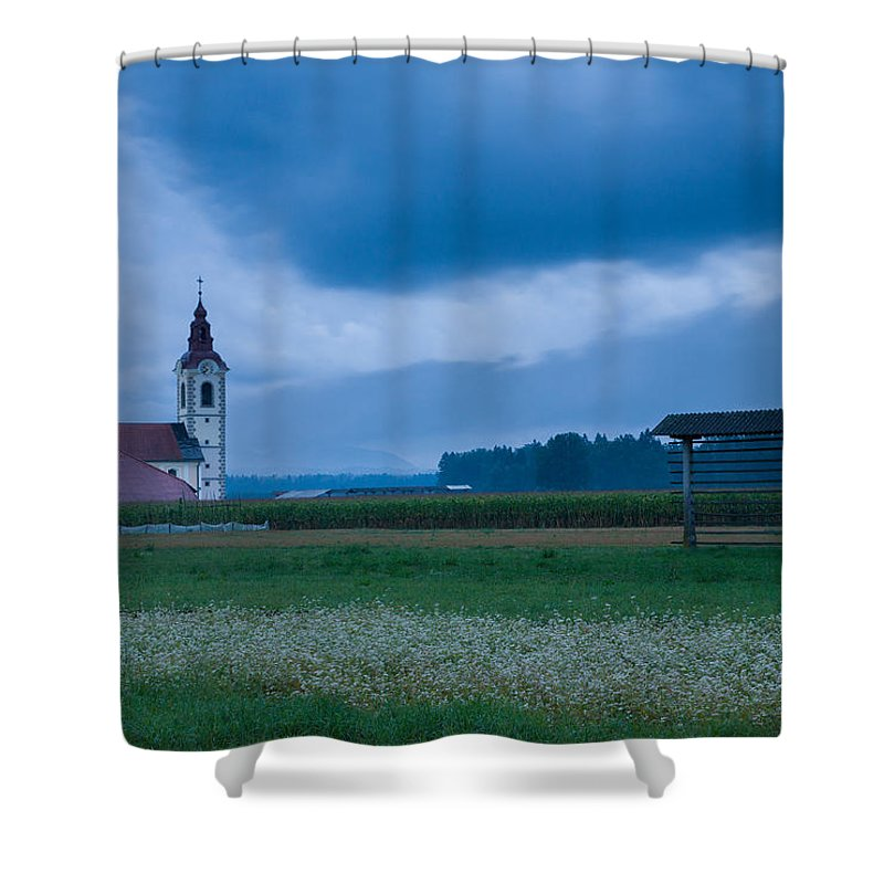 Dusk Shower Curtain featuring the photograph Summer Blues by Ian Middleton
