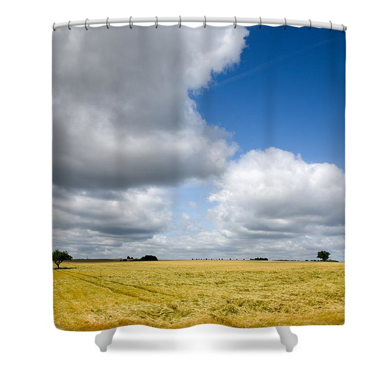 Borg Shower Curtain featuring the photograph Summer In Saarland by Ian Middleton