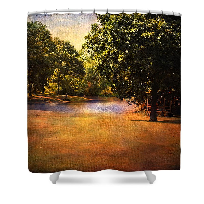 Beautiful Landscape Shower Curtain featuring the photograph Summer Pond by Jai Johnson