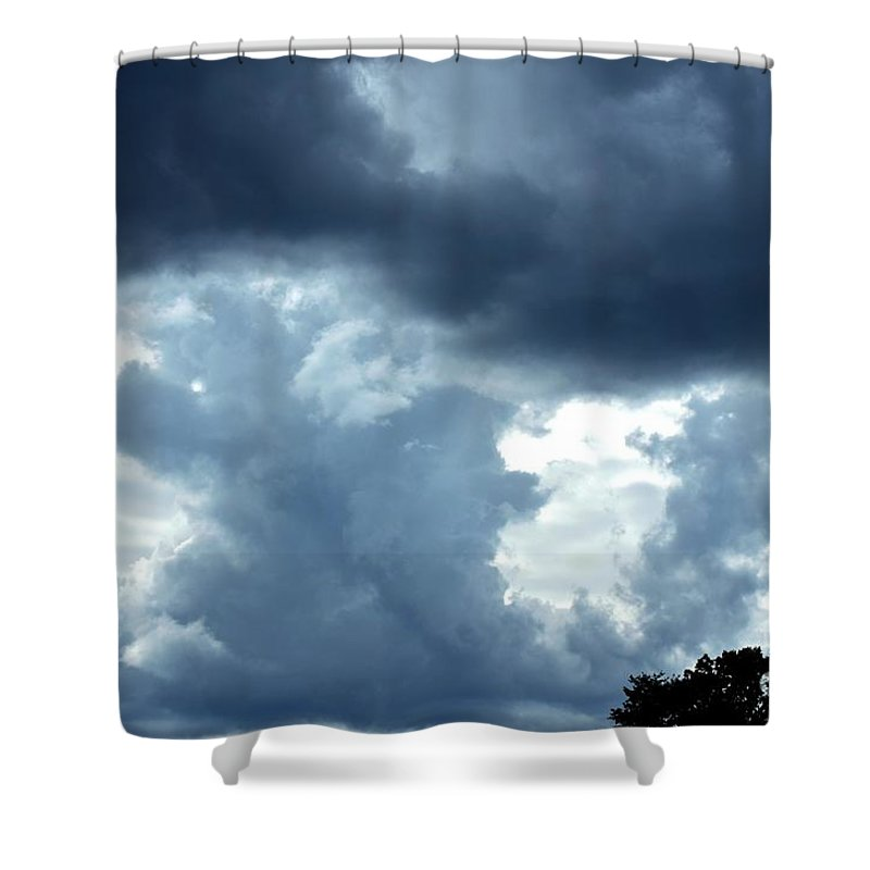 Summer Shower Curtain featuring the photograph Summer Storm by Maria Urso