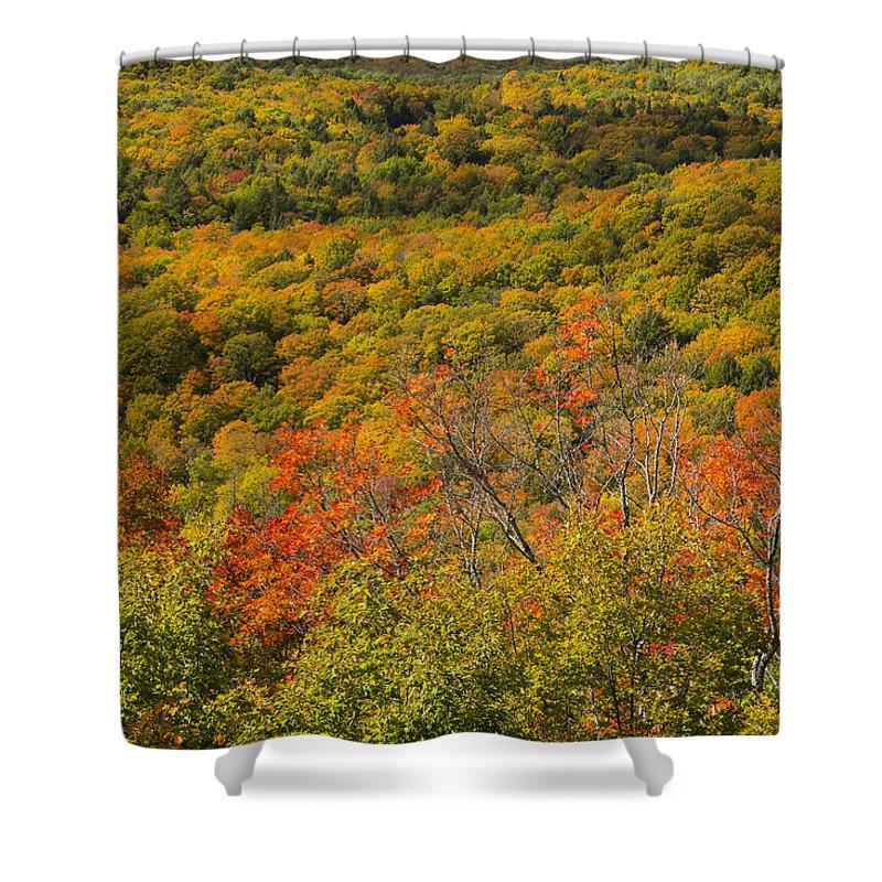Summit Shower Curtain featuring the photograph Summit Peak Autumn 6 by John Brueske