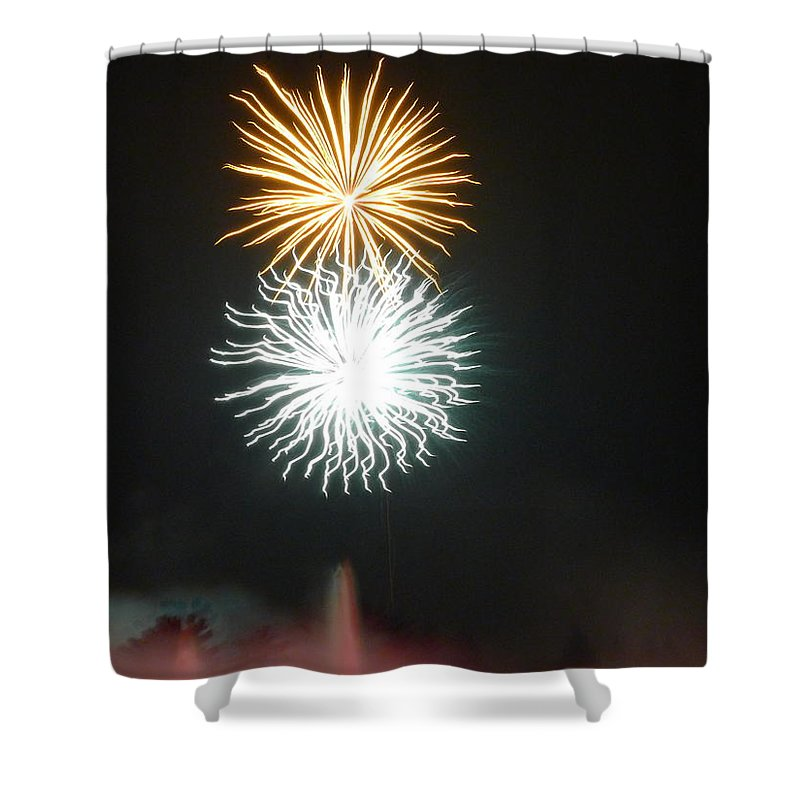 Moon Shower Curtain featuring the photograph Sun And Moon At Night by Richard Reeve