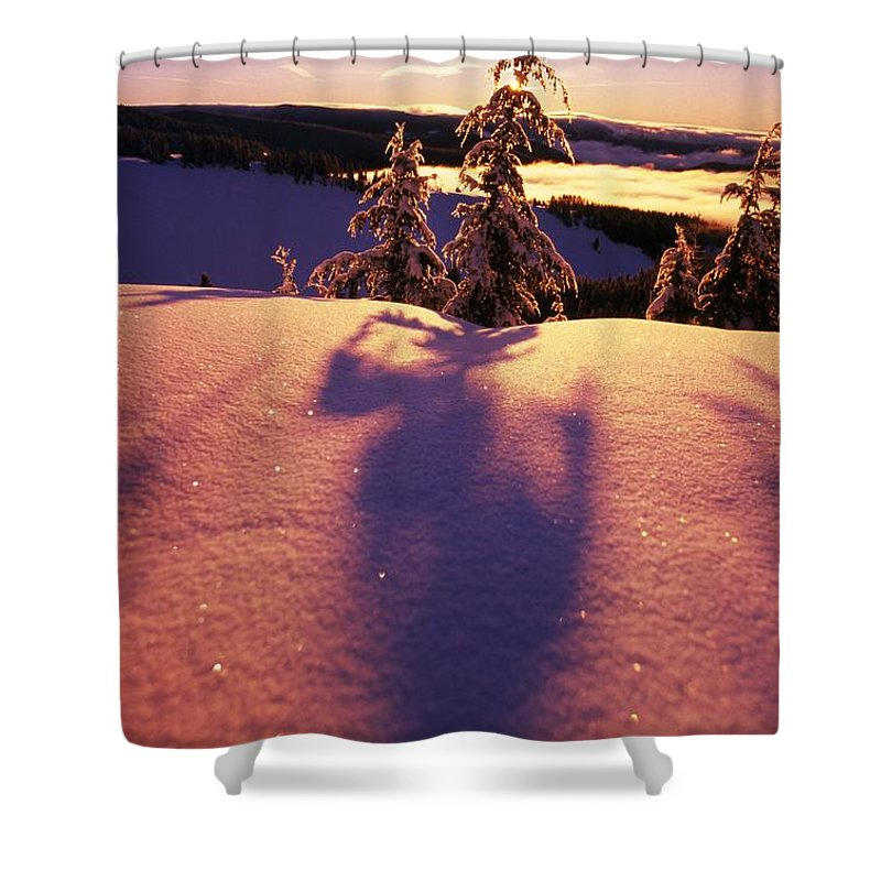 Outdoors Shower Curtain featuring the photograph Sun Casting Shadows On Snow Covered by Natural Selection Craig Tuttle