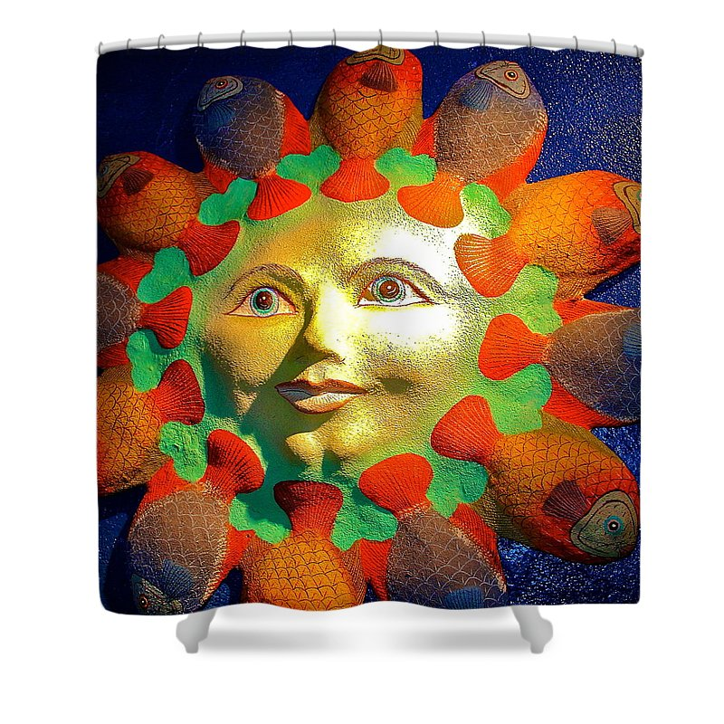 Sculpture Shower Curtain featuring the photograph Sun Fish by Karon Melillo DeVega