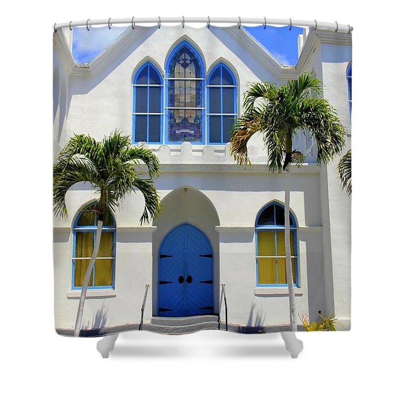 Sunny Sunday Sermon Shower Curtain featuring the photograph Sunny Sunday Sermon by Ed Smith