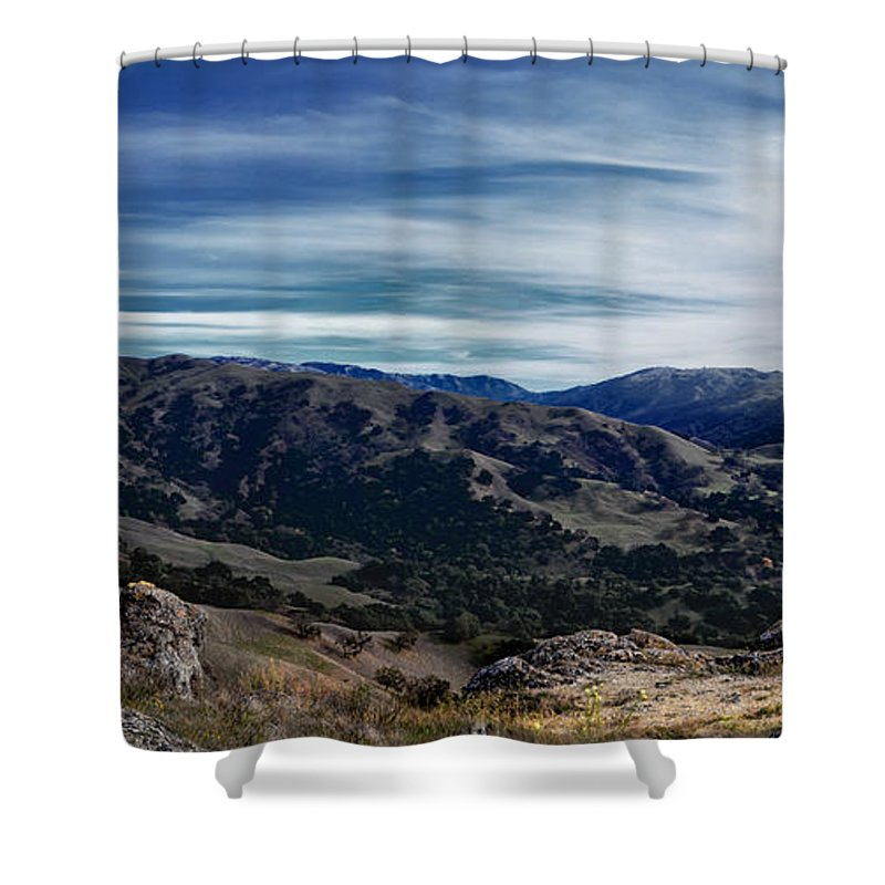 Sunol Shower Curtain featuring the photograph Sunol-flag Hill by Karen W Meyer