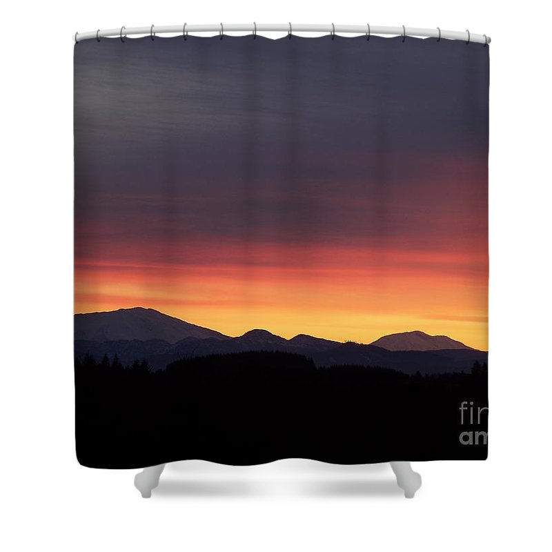 Sunrise 3 Shower Curtain featuring the photograph Sunrise 3 by Chalet Roome-Rigdon