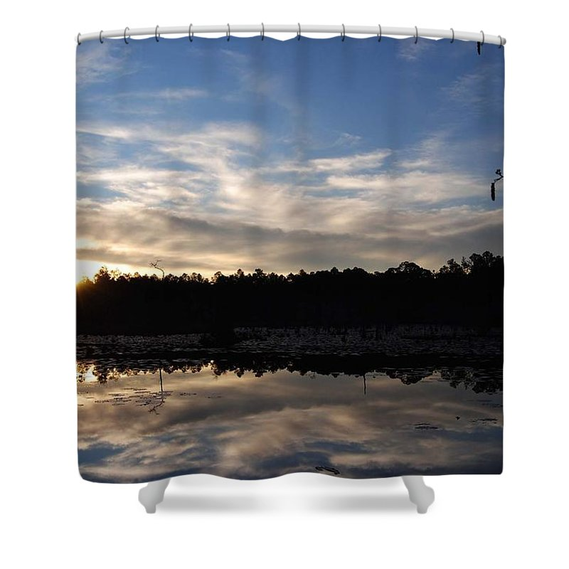 Pond Shower Curtain featuring the photograph Sunrise At The Pond by Charlie Day