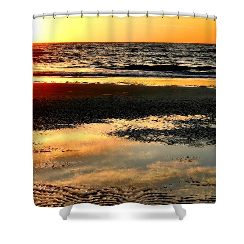 Sunrise Shower Curtain featuring the photograph Sunrise In Jekyll Island by Kristin Elmquist