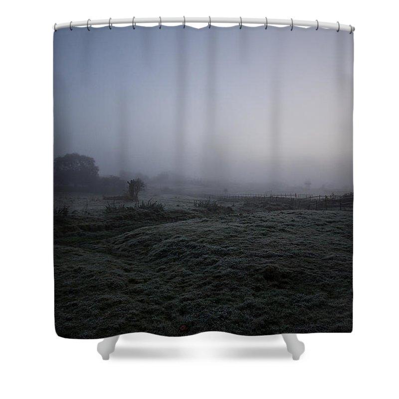 Sunrise Shower Curtain featuring the photograph Sunrise Mist by Dawn OConnor