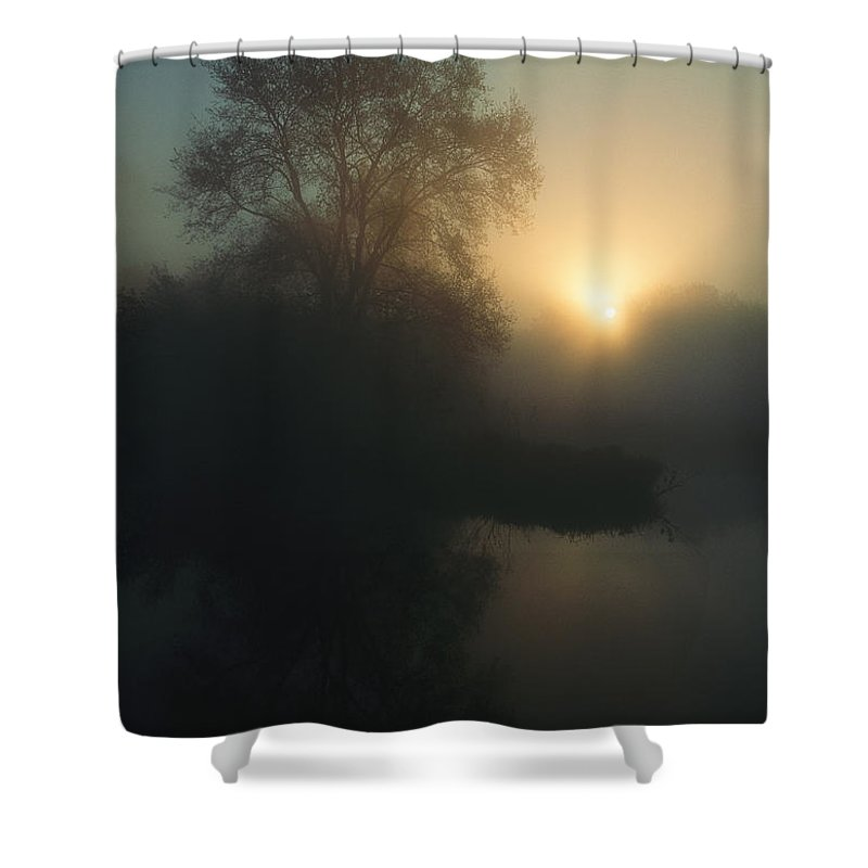 Europe Shower Curtain featuring the photograph Sunrise Over The Wetland In The Oder by Norbert Rosing